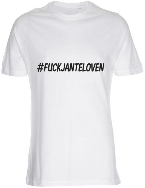 herre t-shirt fuck janteloven hvid