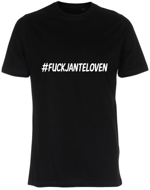 herre t-shirt fuck janteloven sort
