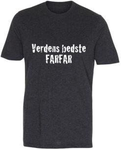 herre t-shirt verdens bedste farfar antracit