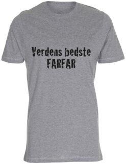 herre t-shirt verdens bedste farfar graa