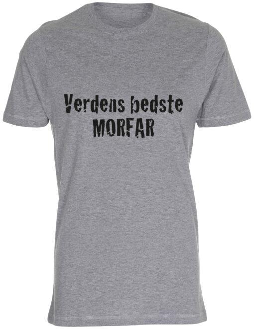 herre t-shirt verdens bedste morfar graa