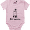 oekologisk baby bodystocking shit happens prinsesse pink