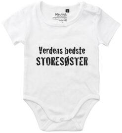 oekologisk baby bodystocking verdens bedste storesoester hvid