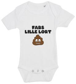 Baby bodystocking fars lille lort hvid