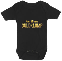 baby bodystocking familiens guldklump sort