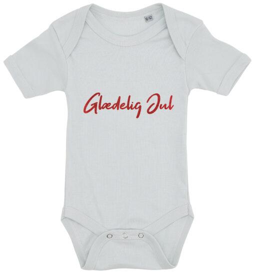 baby bodystocking glaedelig jul blaa