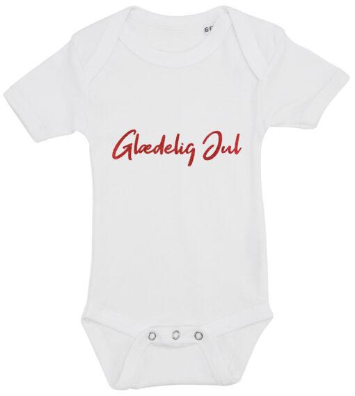 baby bodystocking glaedelig jul hvid