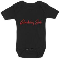baby bodystocking glaedelig jul sort