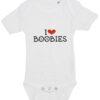 baby bodystocking i love boobies hvid
