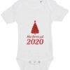 baby bodystocking min foerste jul 2020 hvid