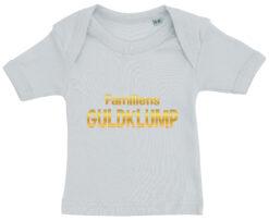 baby t-shirt familiens guldklump blaa