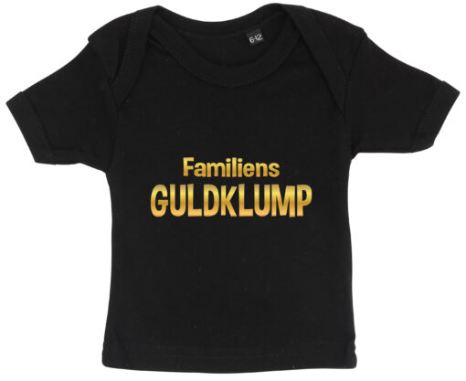 baby t-shirt familiens guldklump sort