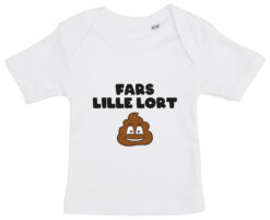 baby t-shirt fars lille lort hvid