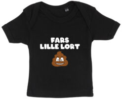 baby t-shirt fars lille lort sort