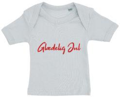 baby t-shirt glaedelig jul blaa