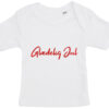 baby t-shirt glaedelig jul hvid