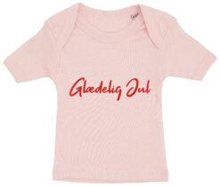 baby t-shirt glaedelig jul lyseroed