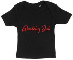 baby t-shirt glaedelig jul sort