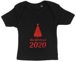 baby t-shirt min foerste jul 2020 sort