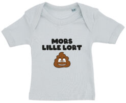 baby t-shirt mors lille lort blaa