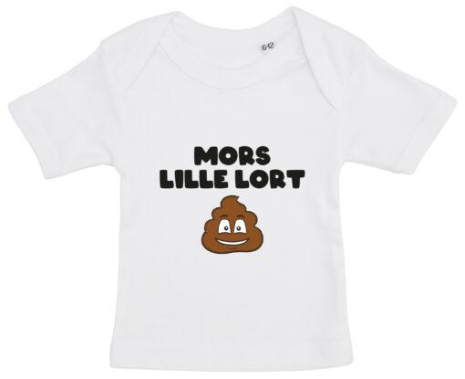 baby t-shirt mors lille lort hvid