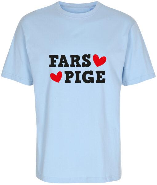 boerne t-shirt fars pige blaa