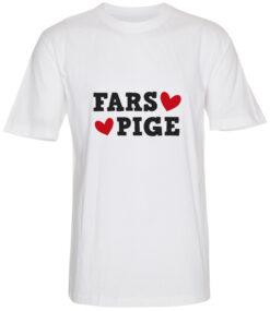boerne t-shirt fars pige hvid