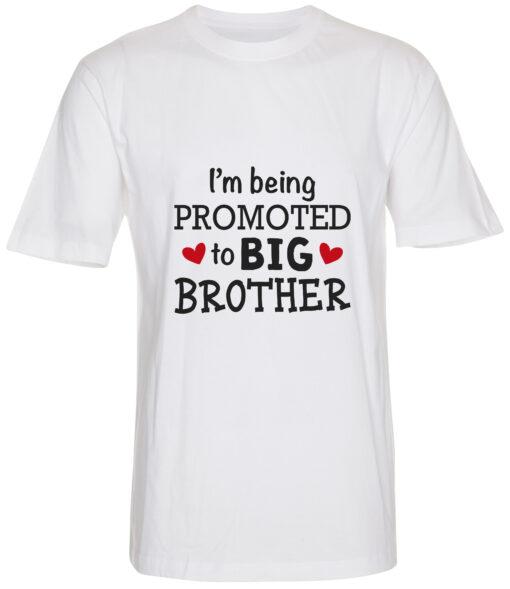 boerne t-shirt i'm being promoted to big brother hvid
