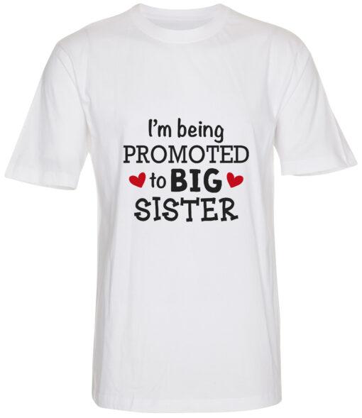 boerne t-shirt i'm being promoted to big sister hvid