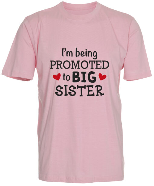 boerne t-shirt i'm being promoted to big sister lyseroed