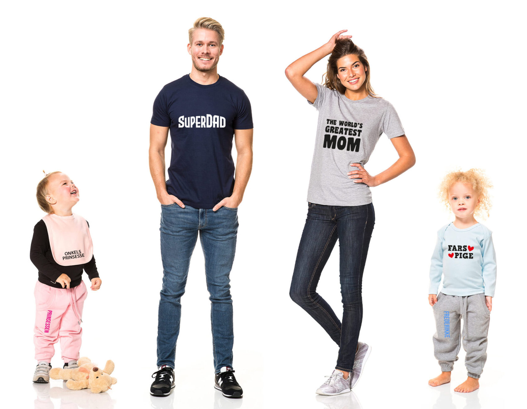 familie med tøj fra cooltryk