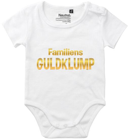 oekologisk baby bodystocking familiens guldklump hvid