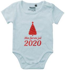 oekologisk baby bodystocking min foerste jul 2020 blaa