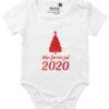 oekologisk baby bodystocking min foerste jul 2020 hvid