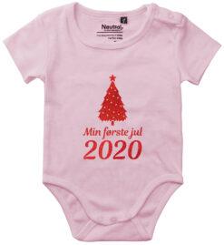 oekologisk baby bodystocking min foerste jul 2020 pink