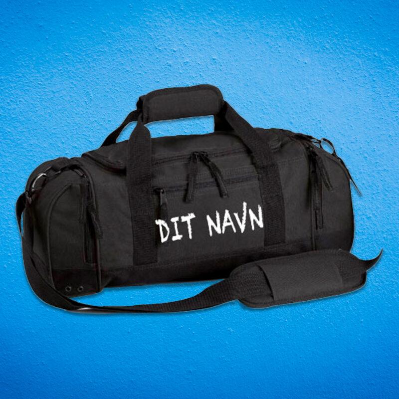 tasker og rygsaekke med tryk