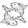 Wallsticker stjernetegn fiskene