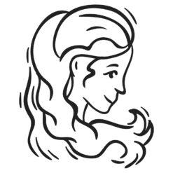 Wallsticker stjernetegn jomfruen