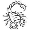 Wallsticker stjernetegn skorpion