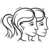 Wallsticker stjernetegn tvillingen