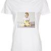 dame t-shirt med dit billede firkant hvid