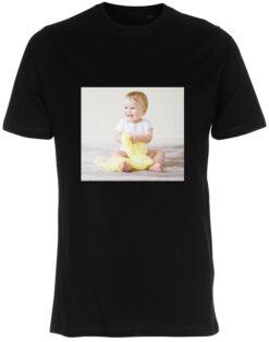 herre t-shirt med dit billede firkant sort