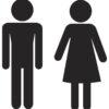 wallsticker toilet piktogrammer herre og dame