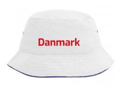 Bøllehat hvid med rød tekst Danmark EM 2021