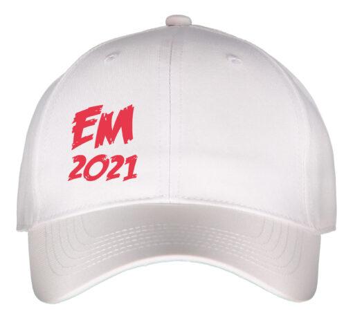 Caps hvid med rød tekst EM2021