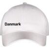 Caps hvid med sort tekst Danmark front