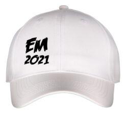 Kasket hvid med sort tekst EM2021