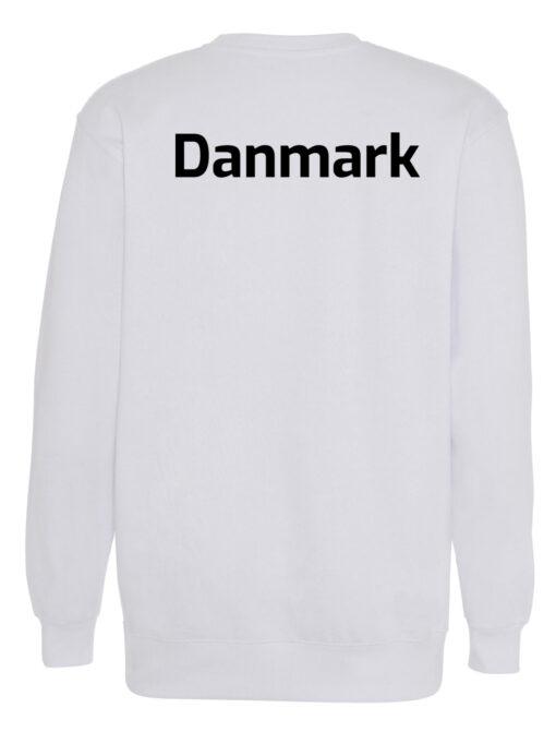Crewneek Hvid med sort tekst Danmark scaled e1621944204617