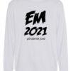 Crewneek Hvid med sort tekst EM2021 1 scaled e1621944301333