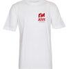T shirts Hvid med Roed tekst EM2021 lille 1 scaled e1622098928143